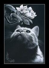 Tabby Cat After Dark Print by I Garmashova