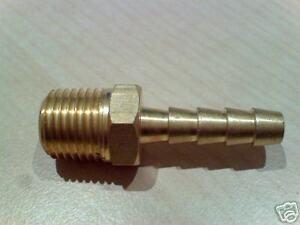 8mm Microbore Brass Hosetail