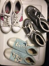 "Choice 1 Roxy""plaid white or blue 5 fashion sneakers size 8.5 or 6.5"