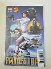 STAR WARS PRINCESS LEIA #1 DYNAMIC FORCES GREG LAND SIGNED LIMITED to 50 COA NM