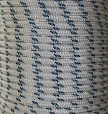 10mm 100m Polyester Rope Double Braided White Black Blue Sailing Mooring Yacht