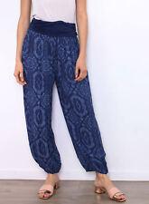 pantalon sarouel ample taille élastique bleu marine grossesse 4 38 40 42 44