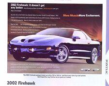 2002 Pontiac Firebird Firehawk SLP Info/Specs/photo 11x8
