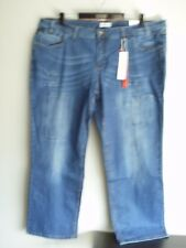 Vintage look Patched Detail Stretch Stonewash Jeans Size 28 R  (50' W 32'inleg)