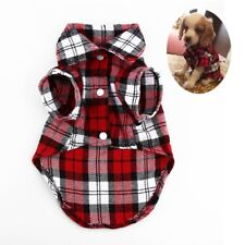 Cute Pet Cat Dog Plaid Shirts Clothes for Puppy Chihuahua Summer Vest T shirts