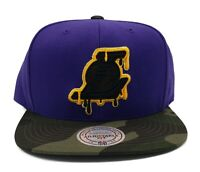 Los Angeles Lakers Mitchell & Ness Camo Dripz Adjustable Snapback Hat Cap Hat
