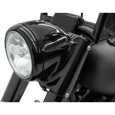"7"" Black Headlight Cowl Nacelle Kit Harley Davidson Softail FL 2001-2017"