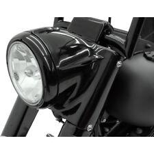 "7"" Black Headlight Cowl Nacelle Kit Harley Softail FL 2001-2017"