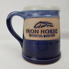 Iron Horse, Whitefish Montana, Whitefish Pottery Coffee Mug, Handmade on Wheel