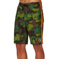 """Hurley Men's Phantom JJF John Florence 2 Elite 22"""" Boardshorts - Camo Green"""