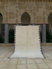 """Beni Ourain Rug 8'2""""x 5'6"""" Ft, Handmade Moroccan Area Rug, Morocco rug Azilal"""