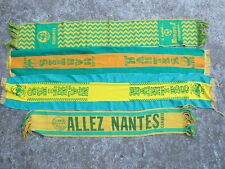 Lot 4 Echarpe F.C NANTES vintage années 70 80 Europe 1 scarf football