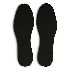 Memory Foam Insoles Poron Soft Shoe Black Inner Soles Orthopaedic Anti Fungal UK
