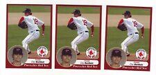 2009 Choice Pawtucket Red Sox Clay Buchholz 3 Card Lot