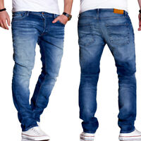 JACK & JONES Jeans CLARK Regular Straight Fit Hose Blau NEU