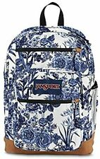 """JANSPORT COOL STUDENT White Rose Adult/Youth 34L 17"""" School Travel Backpack  $74"""