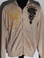 Don Ed Hardy Designs New York City Skull Eagle Snake Dragon XL Full Zip Jacket