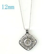 Pendant Metal Necklace Petite 12mm Charm Fits Ginger Snap Mini Ginger Snaps