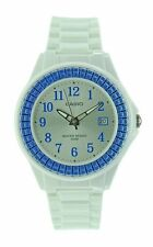 Casio LX-500H-2B White Blue Casio Ladies Watch Resin Band 50M Analog Date NEW