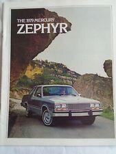 MERCURY Zephyr BROCHURE GAMMA 1979 mercato USA