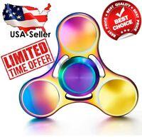 Fidget Spinner Titanium USA Rainbow Metal Stainless Steel Quiet High Speed New