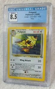 CGC Pidgeot Pokemon (1999) Jungle Unlimited 8/64 Holo Graded 8.5 NM/M+