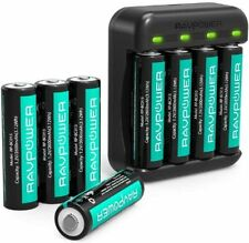 Rechargeable AA Batteries RAVPower 8 Pack 2600mAh High Capacity Ni-MH Battery Pk