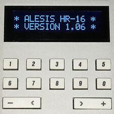 ALESIS HR-16 HR-16B & MMT-8 LCD DISPLAY - REPLACEMENT SCREEN - DARK BLUE