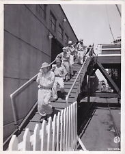 Japanese Prisoners Of War Head to Internment * Vintage 1945 Prison Camp photo