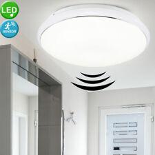 LED Decken Leuchte mit Bewegunsgmelder Sensor Bad Badezimmer Flur Keller Lampe