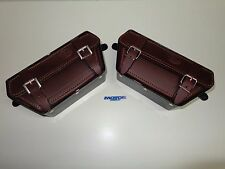 TERROT TWO LEATHER TOOL BOXES, FOR FRENCH MOTOR TERROT YEARS 1920-1930