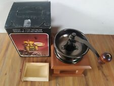 Vintage Wooden Retro Coffee Grinder Manual Hand Crank