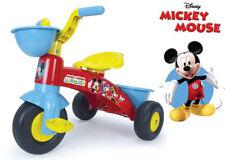 Triciclo a Pedali Mickey Mouse Topolino Disney Rosso Giocattolo Bimbo +3 Anni