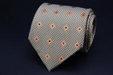 Current ERMENEGILDO ZEGNA Silk Tie. Yellow with Orange & Hot Pink Floral.