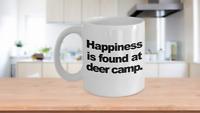 Deer Camp Mug White Coffee Cup Funny Gift Him Hunter Dad Grandpa Hunting Season