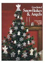 Crochet Patterns Vintage Christmas 12 Snowflakes & 4 Angels COPY PATTERN ONLY