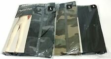 3 Pack Mens Joe Boxer Camo and Black Thermal Underwear Pant Size Large