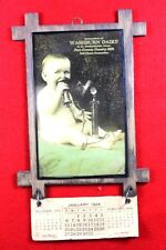 EARLY 1900's WASHBURN DAIRY PURE MILK - BELL PHONE CONNECTION - 1924 CALENDAR
