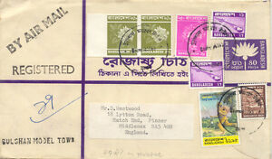 BANGLADESH 1981 80 P R-Envelope uprated 20 P Dahlias VARIETY: IMPERFORATED
