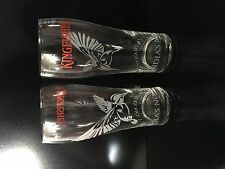 Kingfisher Indian Lager Beer Pint Glasses X2 India's No.1