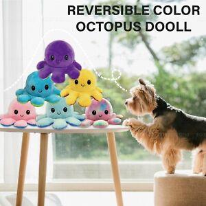 Double-Sided Octopus Flip Reversible Marine Life Animals Doll Octopus Plush Toy