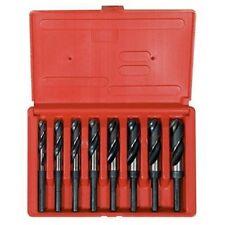 """Hanson 90108 Drill Bit Set, 8 Piece, High Speed Steel, 1/2"""" Reduced Shank, 9/16"""""""