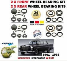 FOR MERCEDES HECKFLOSSE W110 1959-1968 2 X FRONT AND 2X REAR WHEEL BEARING KITS