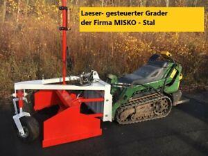 Laeser Grader für Hoflader Radlader Traktor Minibagger Bagger Bobcat Schlepper