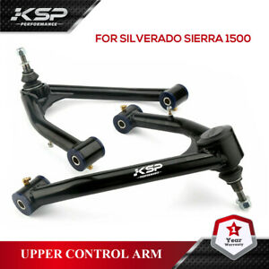 """Front Upper Control Arms for 2-4"""" Lift for 2014-2018 Silverado Sierra 2WD 4WD"""