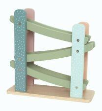 Jabadabado Autorennbahn Rollbahn Teddy pastell bunt Kinder 4 teilig Set Holz