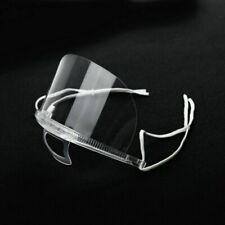 (20Pcs) Transparent Plastic anti-fog Mouth Mask For Restaurant