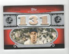 2007 Topps Sterling Joe DiMaggio Triple Jersey Bat Hof 1/10 New York Yankees