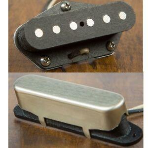 Suhr Andy Wood Woodshed Signature T-Style Raw Nickel Pickup NECK BRIDGE Set