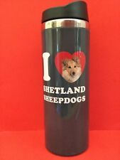 I �� Miniature Schnauzers Coffee Hot Cold Drink Tumbler Travel Cup Dog Gift New